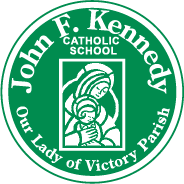 John F. Kennedy Catholic School circle crest logo