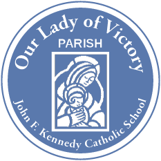 Our Lady of Victory Church and Parish logo